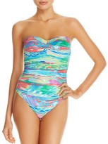 Lauren Ralph Lauren Ikat Bandeau One Piece Swimsuit