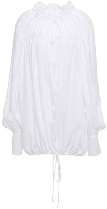 Marques Almeida Oversized Gathered Mousseline Blouse