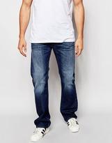Diesel Jeans Zatiny 842c Bootcut Fit Mid Wash - Blue