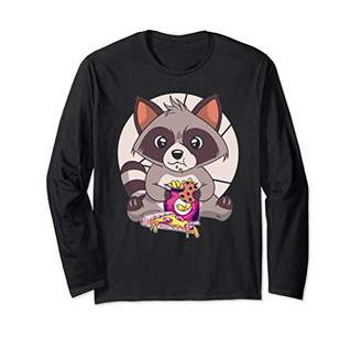 Junk Food Clothing Funny Raccoon Friend Eating Pizza Trash Meme Gift Long Sleeve T-Shirt
