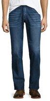 Hudson Byron Straight-Leg Denim Jeans, Dark Blue