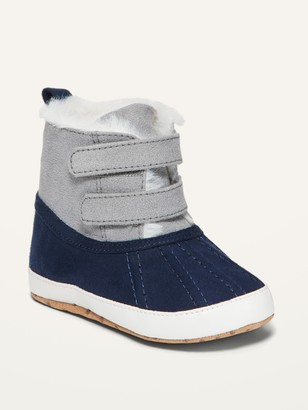 Old Navy Unisex Cozy Color-Blocked Faux-Fur-Lined Snow Boots for Baby