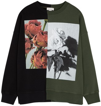 Alexander McQueen Printed cotton sweatshirt