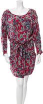Suno Printed Long Sleeve Dress