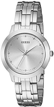 GUESS Classic Slim Stainless Steel Bracelet Watch. Color: (Model: U0989L1)