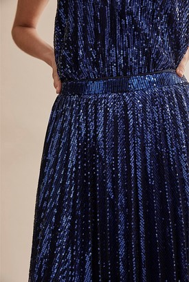 Country Road Pleat Sequin Skirt