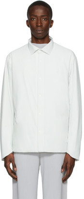 Descente Allterrain Off-White Titanium Thermo Insulated Long Sleeve Shirt