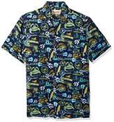 Margaritaville Men's Short Sleeve Landshark Icons Print Shirt