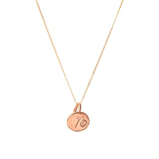 Lily Flo Jewellery Solid Rose Gold Initial Dot Necklace