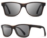 Shwood Men's 'Canby' 54Mm Wood Sunglasses - Dark Walnut/ Dark Grey