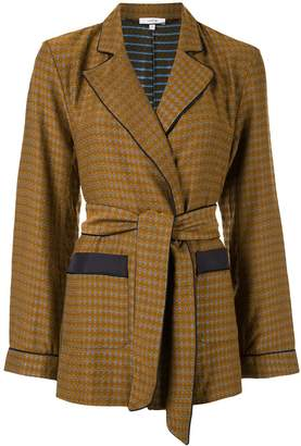 LAYEUR Fitzgerald belted pajama jacket