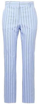 Victoria Victoria Beckham Victoria, Victoria Beckham Cropped Striped Cotton Straight-leg Pants
