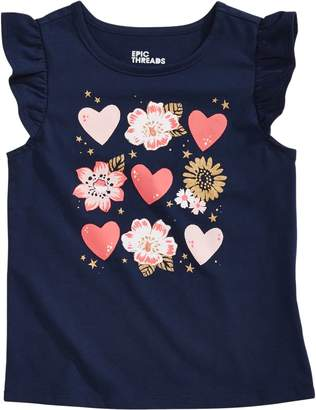 Epic Threads Little Girl's Hearts-Print Cotton Blend Tee