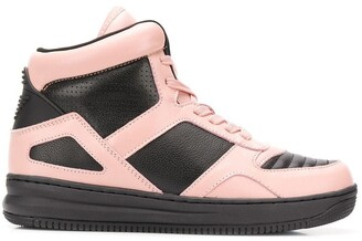 Emporio Armani Colour Block Hi-Top Sneakers