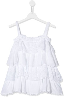 Dondup Kids TEEN tiered strappy top