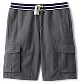 Lands' End Boys Adventure Cargo Shorts-Nightshadow Blue Chambray