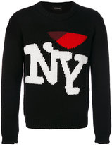 Raf Simons NY embroidered knit sweater