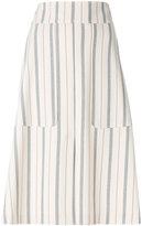 See by Chloe striped midi skirt