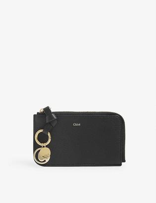 Chloé ABC grained leather cardholder