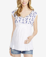 Jessica Simpson Maternity Embroidered Top From Motherhood Maternity