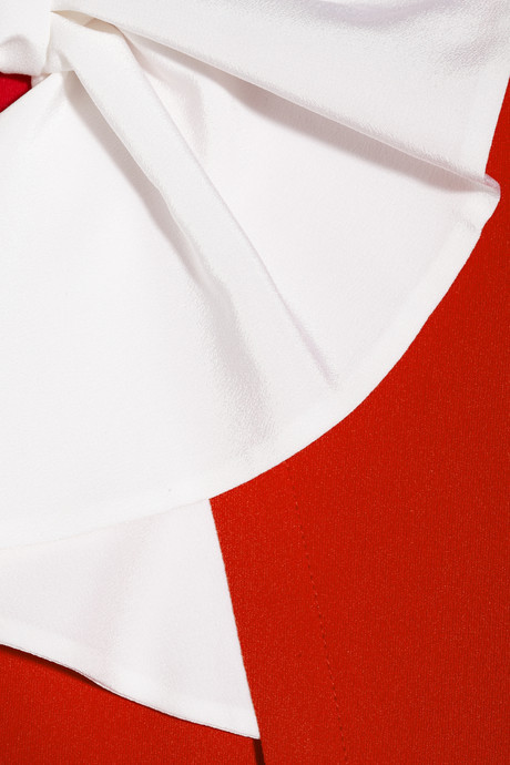 Moschino Bow-embellished cady dress