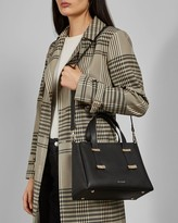 Ted Baker Adjustable Handle Small Leather Tote Bag