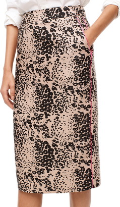 J.Crew Leopard Print Pencil Skirt
