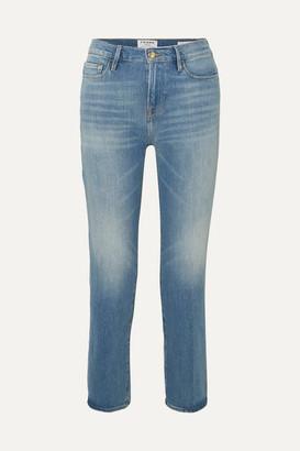Frame Le Nouveau Mid-rise Straight-leg Jeans - Mid denim