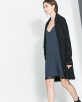 Zara Lingerie Style Dress With Spaghetti Straps