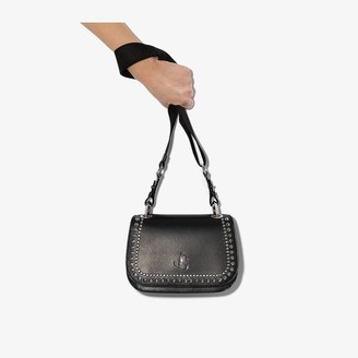 Jimmy Choo black Varenne studded leather cross body bag