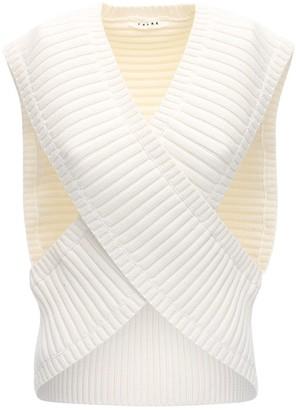 Falke Cotton Blend Rib Knit Top