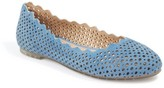 Me Too Women's Carlee Scalloped Flat