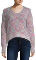 Arizona Juniors Womens Scoop Neck Long Sleeve Pullover Sweater