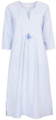 Nologo Chic At Ease Midi Dress - Cotton Stripe - Blue