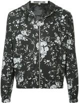 McQ Floral Print Hooded Jacket