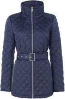 Andrew Marc Quilted jacket with tuck away hood
