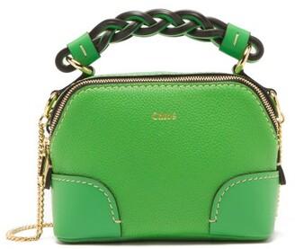Chloé Daria Mini Grained-leather Cross-body Bag - Green