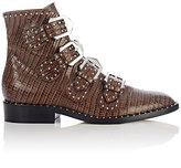 Givenchy Women's Studded Buckle-Strap Ankle Boots-BROWN