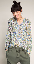 Esprit OUTLET flowing henley style printed blouse