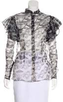 Sophie Theallet Printed Silk Button-Up w/ Tags