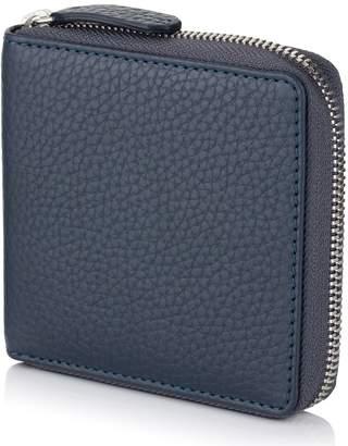 Richmond David Hampton Leather Zip Around Coin Wallet In Petrol