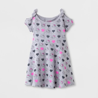 Hello Kitty Toddler Girls' Cold Shoulder A-Line Dress -