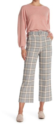 Joie Isami Plaid Belted Ankle Pants