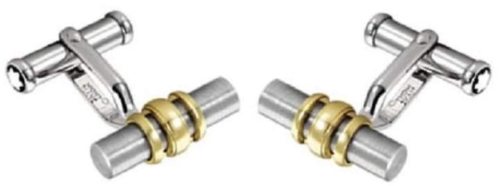 Montblanc 18K Yellow Gold Ring & Stainless Steel Cufflinks