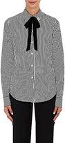 Marc Jacobs Women's Striped Cotton Tieneck Shirt-BLACK