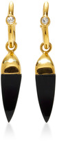 Theodora Warre Gold-Plated Onyx and Topaz Earrings