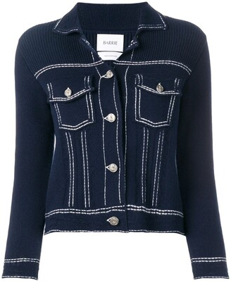 Barrie Denim Style Knitted Cardigan