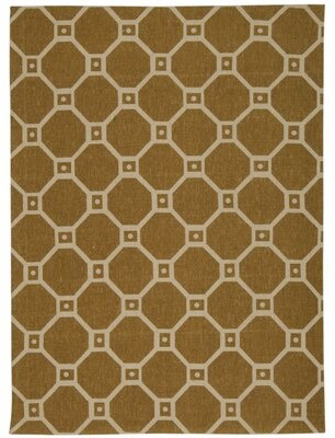 Waverly Color Motion Gold Area Rug Rug Size: Rectangle 5' x 7'