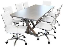 Ebern Designs Rhead Rectangular Conference Table Set Ebern Designs