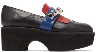 Charles Jeffrey Loverboy X Roker Chained Leather Brogues - Black Multi